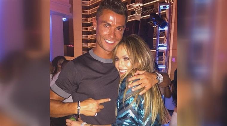 Cristiano Ronaldo na festa de aniversário de Jennifer Lopez